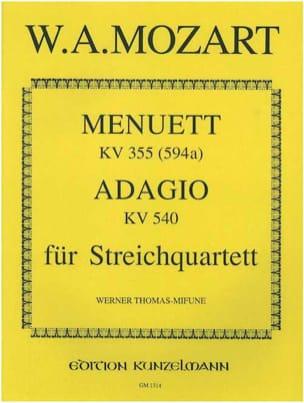 Menuett KV 355 (594a) / Adagio KV 540 –Streichquartett –Stimmen - laflutedepan.com
