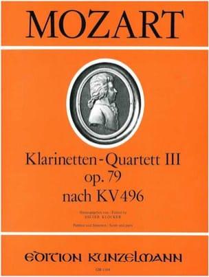 MOZART - Klarinettenquartett Nr. 3 op. 79 – Partitur + Stimmen - Partition - di-arezzo.fr