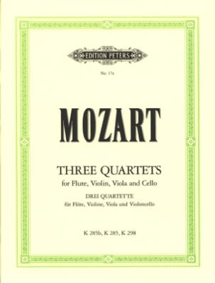 MOZART - 3 Quartet - Flute Violine Viola Violoncello - Sheet Music - di-arezzo.co.uk