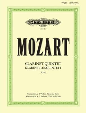 MOZART - Quintett KV 581 - Clarinet 2 violins viola cello - Stimmen - Sheet Music - di-arezzo.co.uk