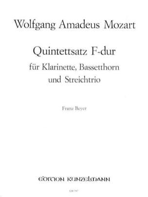 Quintettsatz F-Dur –Klarinette Bassetthorn Streichtrio - Stimmen - laflutedepan.com