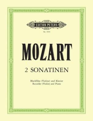 2 Sonatinen - Blockflöte Violine Klavier MOZART Partition laflutedepan