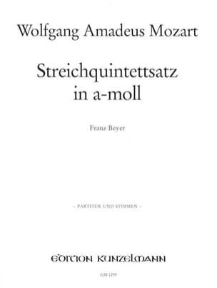 Streichquintettsatz in a-moll –Partitur + Stimmen - laflutedepan.com