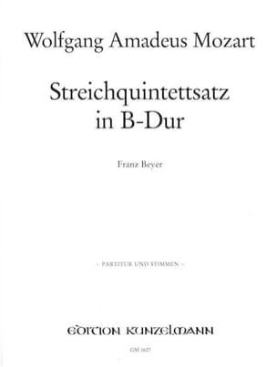 MOZART - Streichquintettsatz in B-Dur -Partitur + Stimmen - Partition - di-arezzo.fr