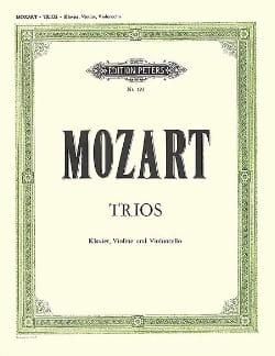 MOZART - Trios - Violin / Cello / Piano - Sheet Music - di-arezzo.co.uk