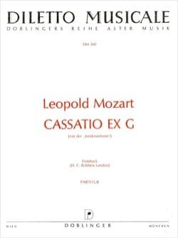 Cassatio ex G - Partitur Leopold Mozart Partition laflutedepan