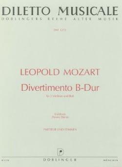 Divertimento B-Dur -Partitur + Stimmen Leopold Mozart laflutedepan