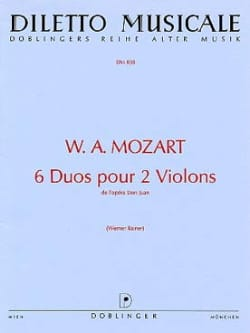 MOZART - 6 Duets for 2 violins - Sheet Music - di-arezzo.co.uk