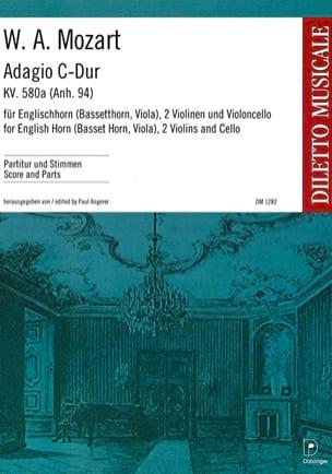 Wolfgang Amadeus Mozart - Adagio Kv 580a C-Dur (Do M.) - Cor Anglais-2 Violons-Violoncelle - Partition - di-arezzo.fr