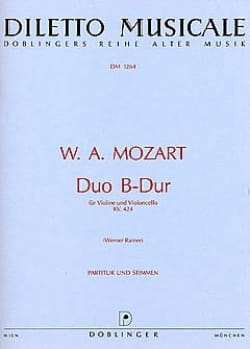 MOZART - Duo B-hard KV. 424 - Sheet Music - di-arezzo.co.uk