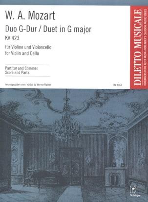 Duo G-Dur KV. 423 – Violine violoncello - laflutedepan.com