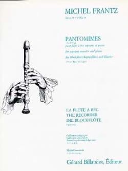 Pantomimes Michel Frantz Partition Flûte à bec - laflutedepan