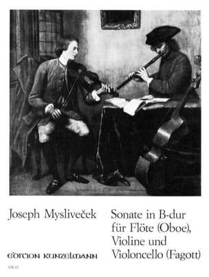 Josef Myslivecek - Sonate B-Dur –Flöte (Oboe) VIoline Violonc. (Fagott) - Stimmen - Partition - di-arezzo.fr