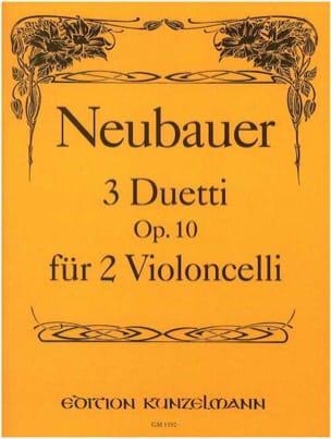 Franz Neubauer - 3 Duetti op.10 - Partition - di-arezzo.fr