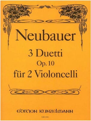 3 Duetti op.10 - Franz Neubauer - Partition - laflutedepan.com
