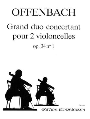 Grand duo concertant op. 34 n° 1 OFFENBACH Partition laflutedepan