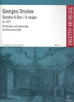 Sonate A-Dur op. 16 n° 3 - Georges Onslow - laflutedepan.com