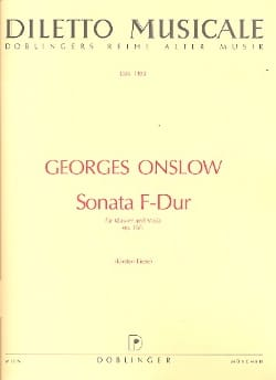 Georges Onslow - Sonate F-Dur op. 16 n° 1 - Partition - di-arezzo.fr