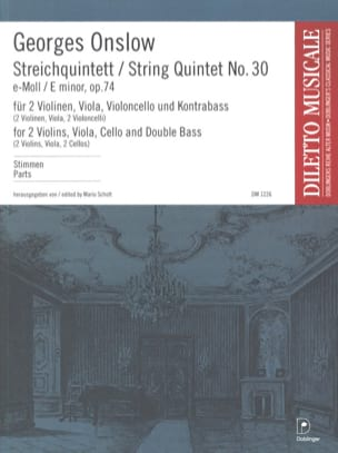 Georges Onslow - Streichquintett Nr. 30 e-moll op. 74 – Stimmen - Partition - di-arezzo.fr
