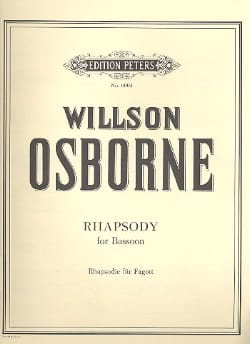 Willson Osborne - Rhapsodie - Basson - Partition - di-arezzo.fr