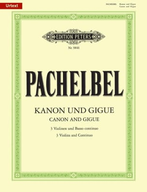 Johann Pachelbel - Kanon und Gigue - Three violins and basso continuo - Sheet Music - di-arezzo.com