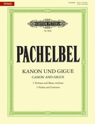 Johann Pachelbel - Kanon und Gigue - 3つのバイオリンとバッソの連続 - 楽譜 - di-arezzo.jp