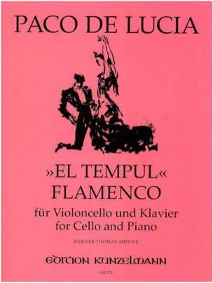 Paco de Lucia - El Tempul Flamenco - Violoncelle piano - Partition - di-arezzo.fr
