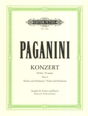 Niccolò Paganini - Konzert D-Dur , op. 6 - Partition - di-arezzo.fr