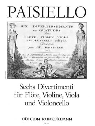 Giovanni Paisiello - 6 Divertimenti - Flute Violine Viola Violoncello - Stimmen - Sheet Music - di-arezzo.co.uk