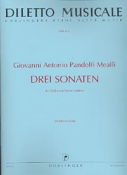 Mealli Giovanni Antonio Pandolfi - 3 Sonate - Partitura - di-arezzo.it