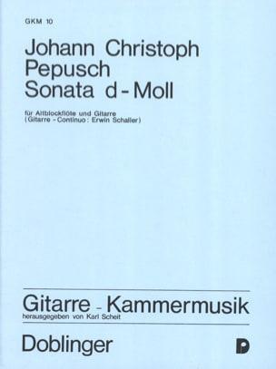 Sonate d-moll - Altblockflöte Gitarre - laflutedepan.com