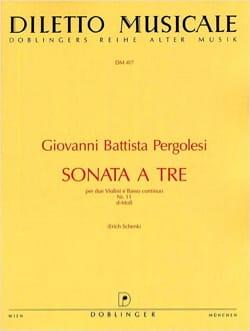 Giovanni Battista Pergolesi - Sonata to be Nr. 11 d-Moll - 2 Violinen u. Bc - Sheet Music - di-arezzo.com