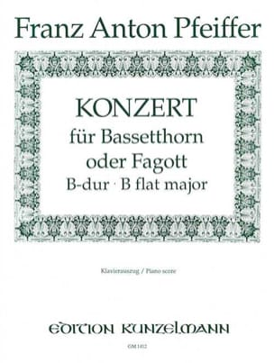 Franz Anton Pfeiffer - Konzert B-Dur for Bassetthorn o. Fagott - Sheet Music - di-arezzo.co.uk