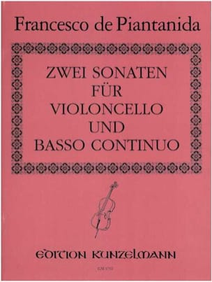Francesco de Piantanida - 2 Sonates pour violoncelle et basse continue - Partition - di-arezzo.fr