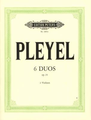 6 Duos op. 24 Ignaz Pleyel Partition Violon - laflutedepan