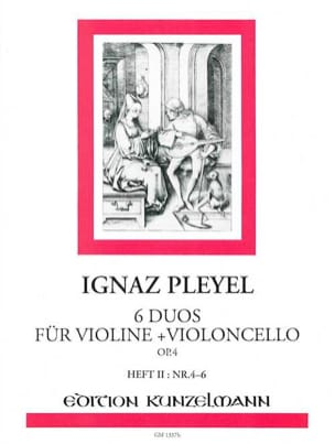 Ignaz Pleyel - 6 Duos für Violine und Violoncello op. 4 - Bd. 2 - Partition - di-arezzo.fr