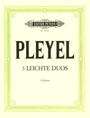 Ignaz Pleyel - 3 Leichte Duos - Partition - di-arezzo.fr