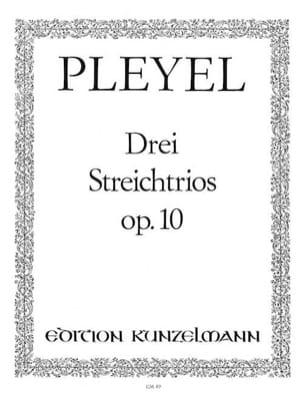 Ignaz Pleyel - 3 Streichtrios op. 10 -Stimmen - Partition - di-arezzo.fr