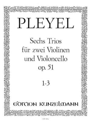 6 Trios op. 51 - Bd. 1 : Nr. 1-3 -2 Violinen u. Violoncello - Stimmen - laflutedepan.com