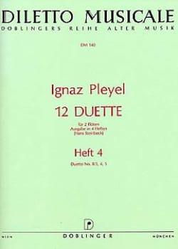 Ignaz Joseph Pleyel - 12 Duette, Heft. 4 (Nr. 2/3, 4, 5) – 2 Flöten - Partition - di-arezzo.fr