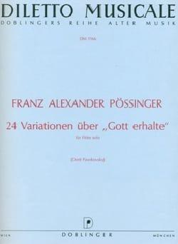 24 Variationen über Gott erhalte – Flöte solo - laflutedepan.com