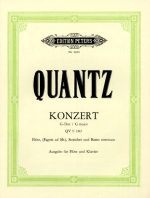 Johann Joachim Quantz - Konzert G-Dur QV 5:182 - クラヴィエフルート - 楽譜 - di-arezzo.jp