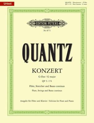 Konzert G-Dur QV 5: 174 - Flöte Klavier - QUANTZ - laflutedepan.com
