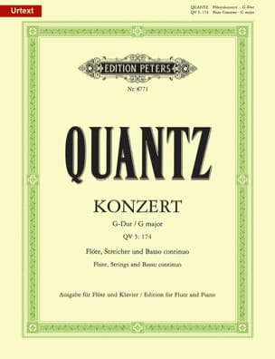 Johann Joachim Quantz - Konzert G-Dur QV 5: 174 - Flöte Klavier - Partition - di-arezzo.fr