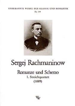 Serge Rachmaninov - Romanze und Scherzo –Streichquartett - Stimmen - Partition - di-arezzo.fr