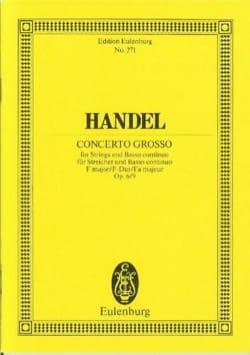 Georg Friedrich Haendel - Concerto grosso F-Dur - Partition - di-arezzo.fr