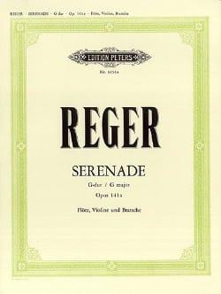 Serenade G-Dur op. 141a -Flöte Violine Viola Max Reger laflutedepan