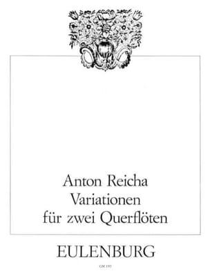 Variationen op. 20 - 2 Flöten Anton Reicha Partition laflutedepan