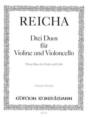 3 Duos für Violine und Violoncello - Joseph Reicha - laflutedepan.com