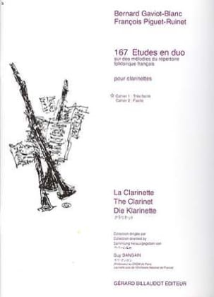 Gaviot-Blanc Bernard / Piguet-Ruinet François - 167 Duo Studies Volume 1 - Sheet Music - di-arezzo.co.uk